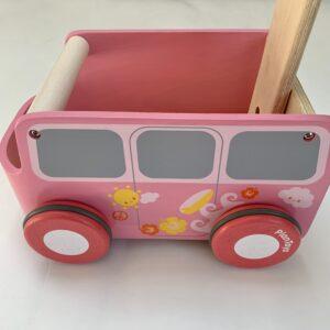 Loopwagentje pink Plantoys