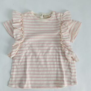 T-shirt pink stripes frill Zara 3-4jr / 104