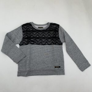 Sweater zwart kant Soft Gallery 8-9jr
