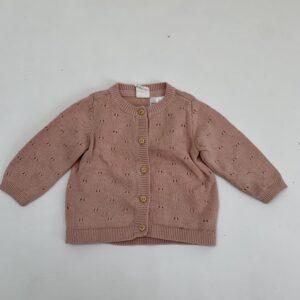 Gilet pink tricot H&M 1-2m / 56