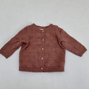 Gilet pink dots tricot H&M 1-2m / 56