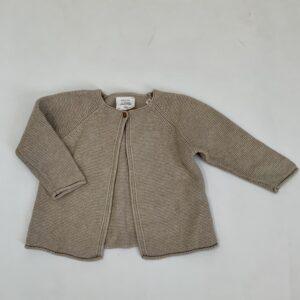 Gilet beige tricot Zara 12-18m / 86