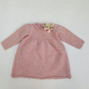Kleedje tricot pink Il Gufo 12m