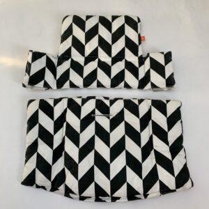 Tripp Trapp cushion black and white Stokke