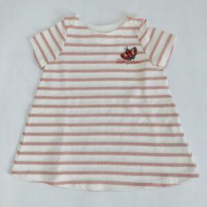 Kleedje glitter stripes Petit Bateau 12m /74