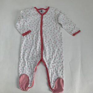 Pyjama met voetjes onesie flowers Petit Bateau 18m / 81