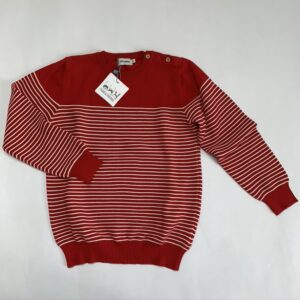 Pull tricot rood Filou & Friends 8jr