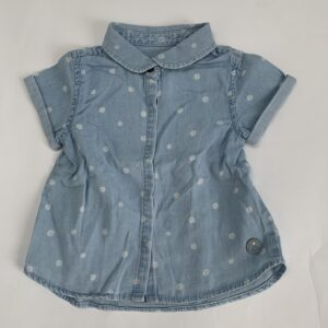 Blouse denim flowers Zara 9-12m / 80
