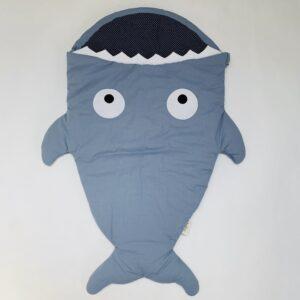 Haaienslaap- en voetenzak blauw Babybites 0-18m