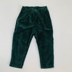 Broek ribfluweel groen Zara 12-18m / 86