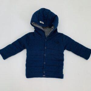 Dubbelzijdig jasje met kap donkerblauw stitch Tumble 'n dry 56