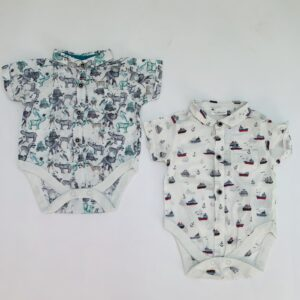 2 x rompers shortsleeve Next 0-3m
