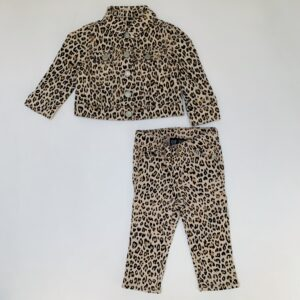 Tweedelig setje leopard Babygap 12-18m
