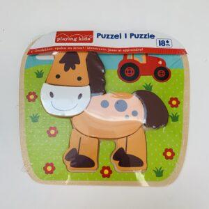 Houten puzzel paard Playing kids 18m