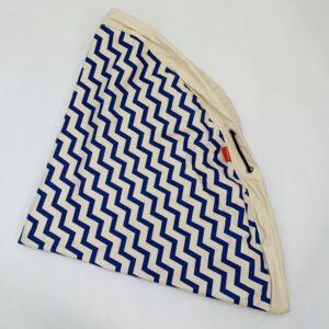 Speel- en opbergmat zigzag blauw Play and go