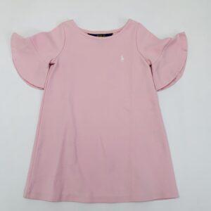 Basic pink dress met frill mouwen Ralph Lauren 2jr