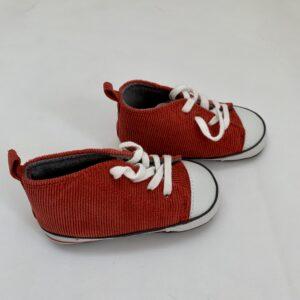 Babyslofjes ribstof rood Next 12-18m