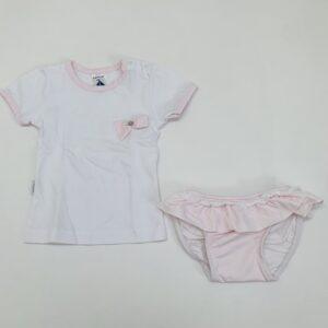 Zwemsetje roze ruitjes Babidu 6m