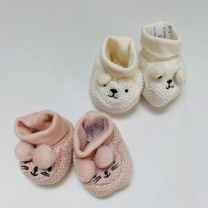 Babyslofjes pink/white H&M 12/13 en 13/15