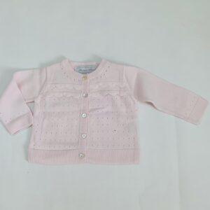 Gilet pink tricot Tartine et chocolat 3m