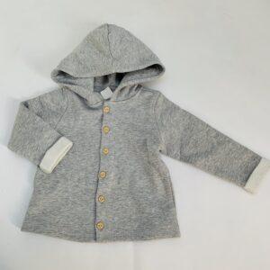 Gevoerd jasje met kap lichtgrijs H&M 9-12m / 80