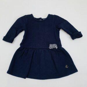 Kleedje longsleeve donkerblauw Petit Bateau 3m / 60