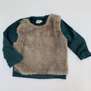 Groene sweater teddy Feliz by Filou 12m