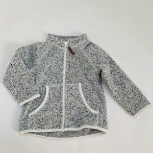 Gevoerd sweaterjasje speckled H&M 9-12m / 80