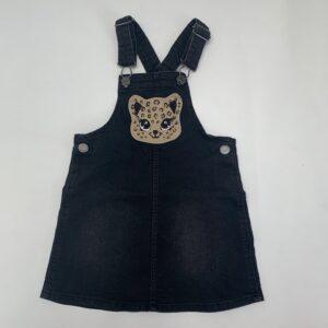Salopette kleedje denim luipaard H&M 3-4jr / 104