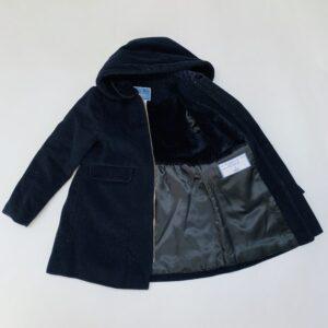 Lange gevoerde winterjas donkerblauw Jacadi 5jr / 110