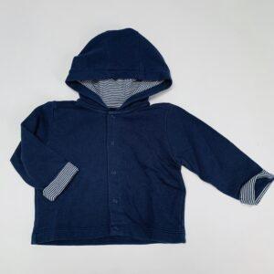 Sweaterjasje donkerblauw Feliz by Filou 6m