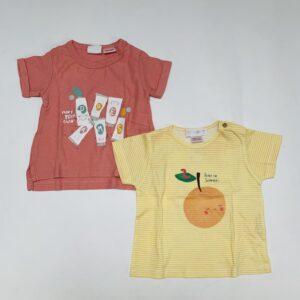 2x t-shirt Zara 3-6m / 68