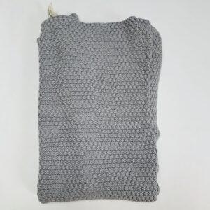 Dekentje tricot grijs Little Naturals 75×100 cm