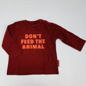Longsleeve don't feed the animal P'tit Filou 9m
