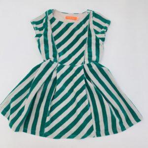 Kleedje velvet green stripes Fred & Ginger 98