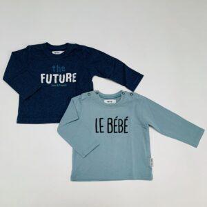 2 x longsleeve bébé/the future Baby Filou 6m
