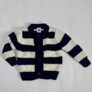 Gilet knitwear stripes Petit Bateau 6m / 67