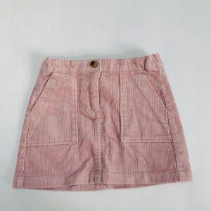 Rokje ribfluweel pink H&M 2-3jr / 98
