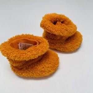 Pantoffels oranje Woody 0-6m