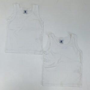2 x onderhemdje wit Petit Bateau 3jr / 94