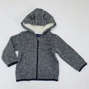 Gevoerde sweaterjas met teddykap oortjes Tom Tailor 80