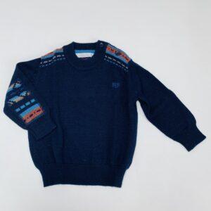 Sweater tricot met elleboogpatches Blue Bay Paris 74