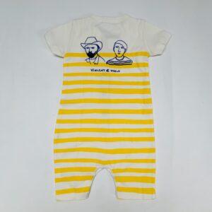 Zomerpakje shortsleeve yellow stripes Vincent et Pablo Bobo Choses 3-6m