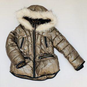 Winterjas met kap metallic IKKS 6jr