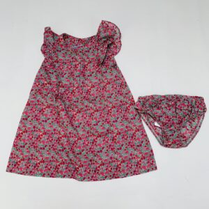 Setje kleedje + bloomer flowers Jacadi 18m / 81
