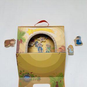 Houten speelgoed kerststal Haba