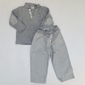 Pyjama grey/stripes Cotolini 2jr
