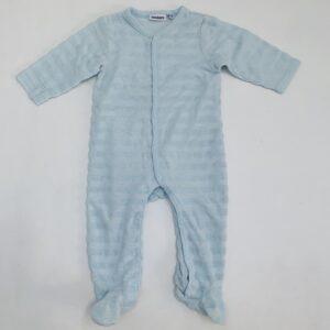 Pyjama met voetjes badstoffen streepjes lichtblauw Noukie's 6m / 68