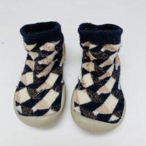 Pantoffels glitterdetail Collegien maat 20/21