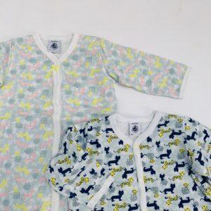 2 x pyjama met voetjes cats Petit Bateau 6m / 67